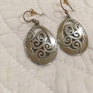 Brighton silver hanging earrings